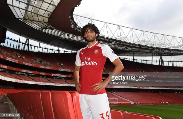 Mohamed Elneny of Arsenal during the Arsenal 1st team photocall at Emirates Stadium on August 3 2017 in London England