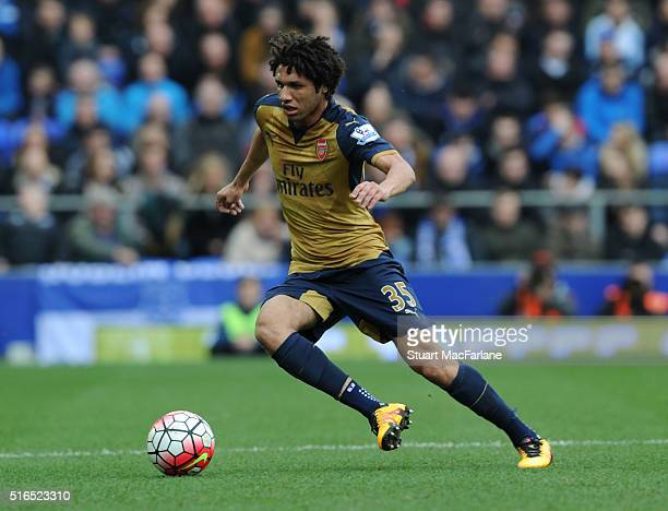Mohamed Elneny of Arsenal during the Barclays Premier League match between Everton and Arsenal at Goodison Park on March 19 2016 in Liverpool England