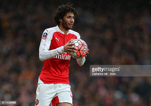 Mohamed Elneny of Arsenal during the Emirates FA Cup match between Arsenal and Hull City at the Emirates Stadium on February 20 2016 in London England