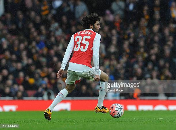 Mohamed Elneny of Arsenal during the match between Arsenal and Hull City in the FA Cup 5th Round at Emirates Stadium on February 20 2016 in London...