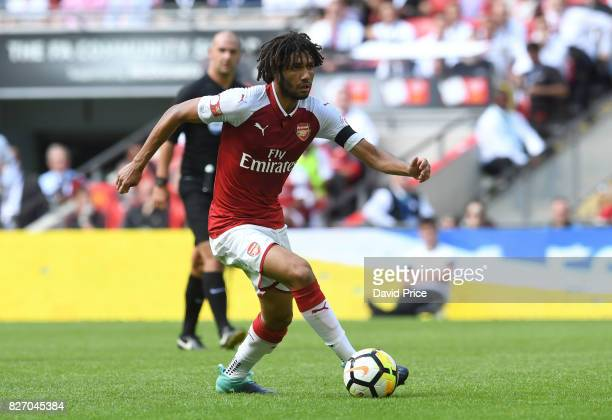 Mohamed Elneny of Arsenal during the match between Chelsea and Arsenal at Wembley Stadium on August 6 2017 in London England