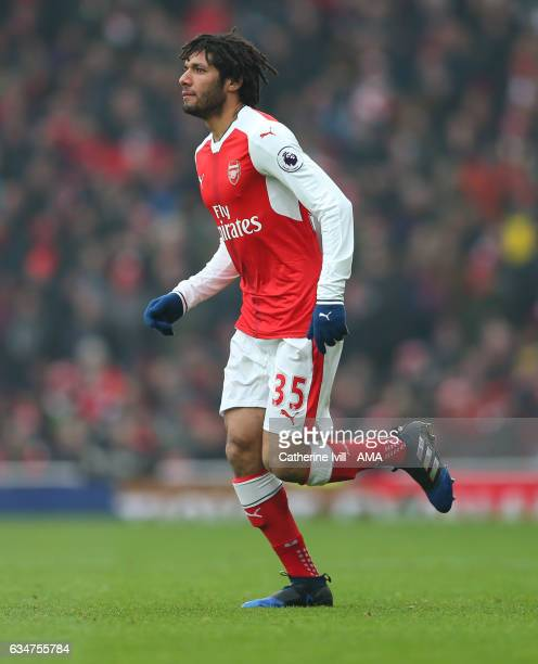 Mohamed Elneny of Arsenal during the Premier League match between Arsenal and Hull City at Emirates Stadium on February 11 2017 in London England