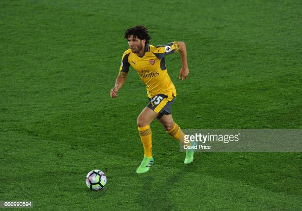 Mohamed Elneny of Arsenal during the Premier League match between Crystal Palace and Arsenal at Selhurst Park on April 10 2017 in London England