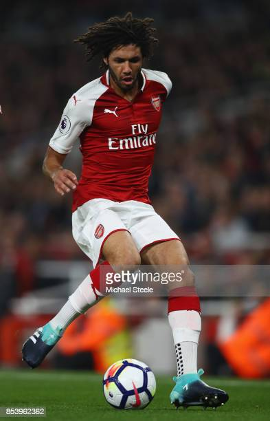 Mohamed Elneny of Arsenal during the Premier League match between Arsenal and West Bromwich Albion at Emirates Stadium on September 25 2017 in London...
