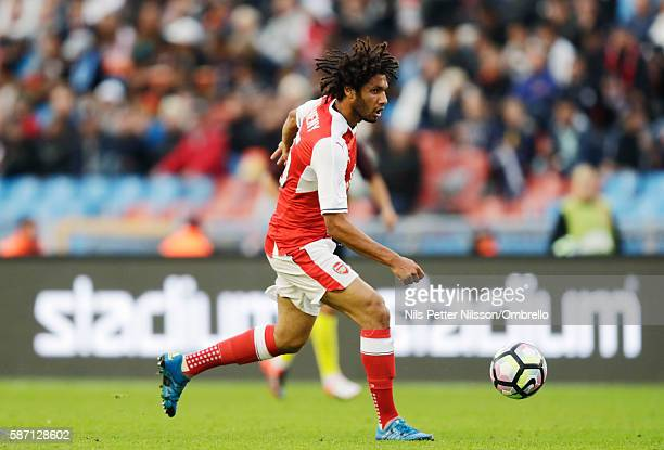 Mohamed Elneny of Arsenal during the PreSeason Friendly between Arsenal and Manchester City at Ullevi on August 7 2016 in Gothenburg Sweden