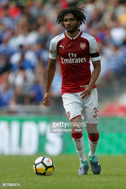 Mohamed Elneny of Arsenal during the The FA Community Shield between Chelsea and Arsenal at Wembley Stadium on August 6 2017 in London England