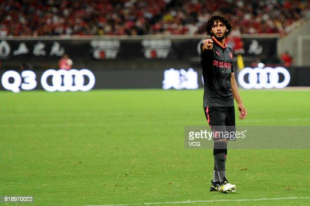 Mohamed Elneny of Arsenal in action during 2017 International Champions Cup China between FC Bayern Munich and Arsenal FC at Shanghai Stadium on July...
