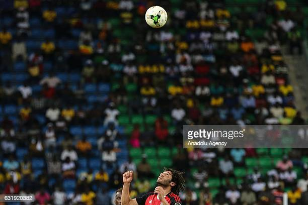 Mohamed Elneny of Egypt in action during the 2017 Africa Cup of Nations group D football match between Mali and Egypt in PortGentil Gabon on January...