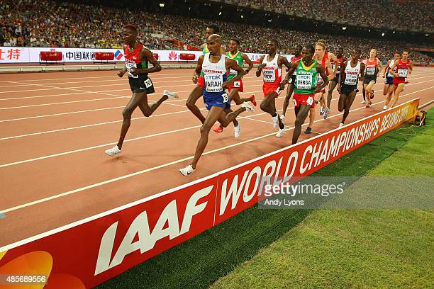 Mohamed Farah of Great Britain on his way to winning gold in the Men's 5000 metres final during day eight of the 15th IAAF World Athletics...