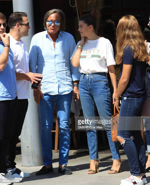 Mohamed Hadid and Shiva Safai are seen on August 18 2017 in Los Angeles California