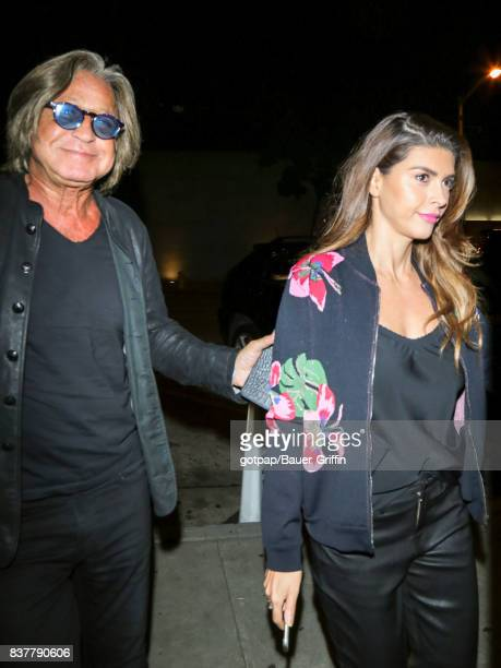 Mohamed Hadid and Shiva Safai are seen on August 22 2017 in Los Angeles California