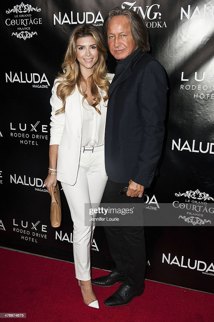 Mohamed Hadid (R) and Shiva SaFai arrive at the Naluda Magazine March Issue launch party with cover girl Joyce Giraud hosted at the Luxe Rodeo Drive Hotel on March 4, 2014 in Beverly Hills, California.
