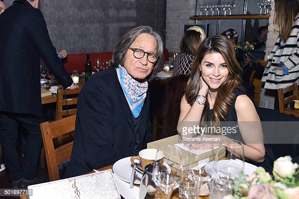 Mohamed Hadid and Shiva Safai attend Alana Hadid x Lou Grey Celebrate Collaboration With Friends And Family In Los Angeles at Republique on December...