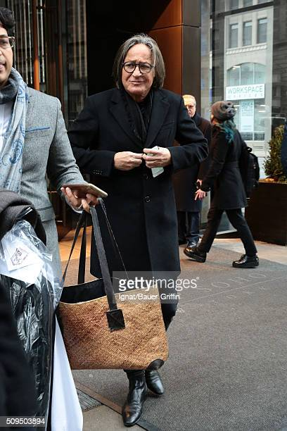Mohamed Hadid is seen on February 10 2016 in New York City