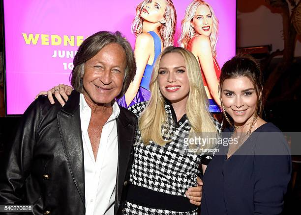 Mohamed Hadid TV personality Erin Foster and Shiva Safai attend VH1's 'Barely Famous' Season 2 Party on June 14 2016 in West Hollywood California