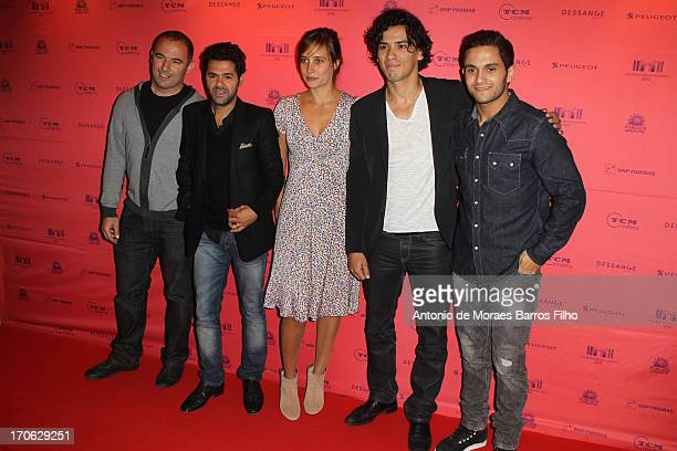 Mohamed Hamidi Jamel Debbouze Julie De Bona Tewfik Jallab and Malik Bentalha attend the 'Ne Quelque Part' Premiere As Part of The Champs Elysees Film...
