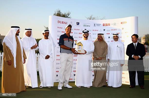 Mohamed Juma Buamaim Vice Chairman and CEO of Golf in Dubai Saeed Harib SecretaryGeneral of Dubai Sports Council Shaikh Fahim Bin Sultan Al Qasimi...