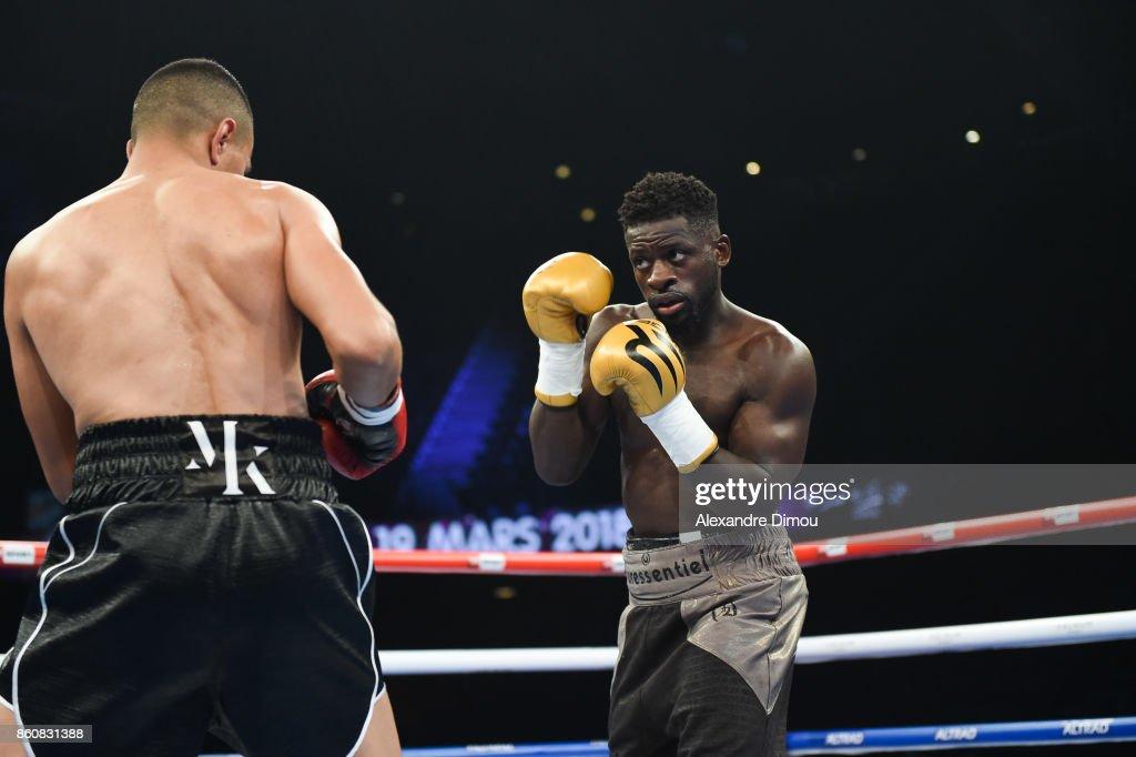 Mohamed Kani and Patrtick Momene during the Boxitanie Event on October 12, 2017 in Montpellier, France.
