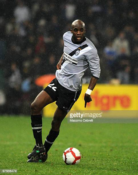 Mohamed Lamine Sissoko of Juventus FC during the Serie A match between UC Sampdoria and Juventus FC at Stadio Luigi Ferraris on March 21 2010 in...