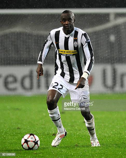 Mohamed Lamine Sissoko of Juventus FC in action after the UEFA Champions League Group A match between Juventus FC and Maccabi Haifa FC at Stadio...