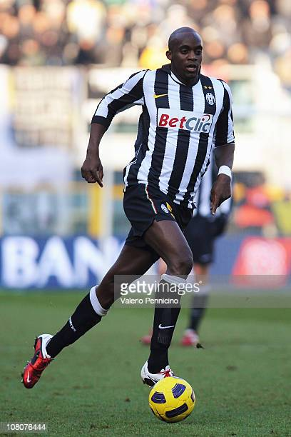 Mohamed Lamine Sissoko of Juventus FC in action during the Serie A match between Juventus FC and AS Bari at Olimpico Stadium on January 16 2011 in...