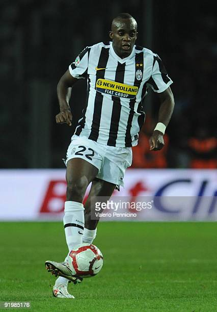 Mohamed Lamine Sissoko of Juventus FC in action during the Serie A match between Juventus FC and ACF Fiorentina at Olimpico Stadium on October 17...