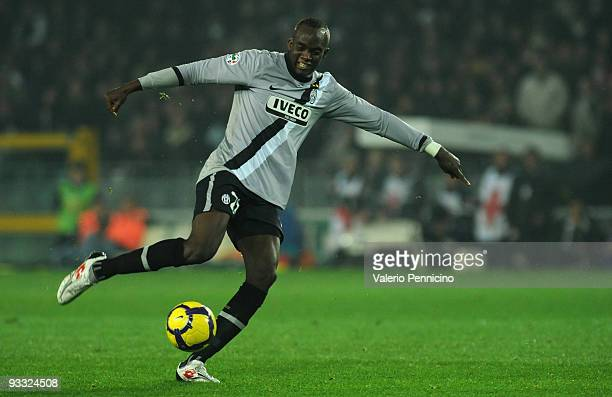 Mohamed Lamine Sissoko of Juventus FC in action during the Serie A match between Juventus and Udinese at Stadio Olimpico di Torino on November 22...