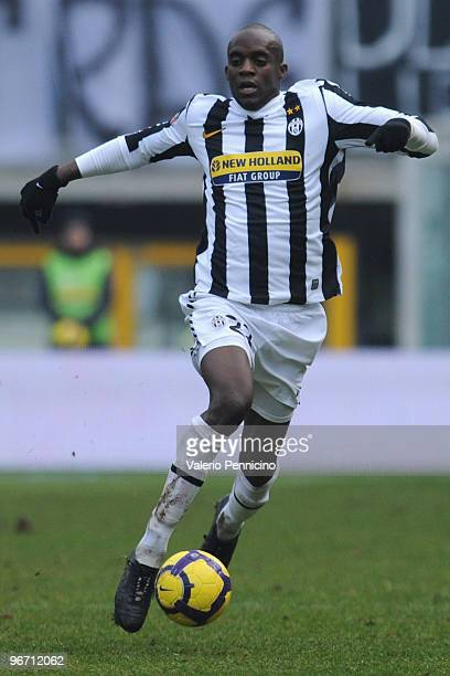 Mohamed Lamine Sissoko of Juventus FC in action during the Serie A match between Juventus FC and Genoa CFC at Stadio Olimpico on February 14 2010 in...