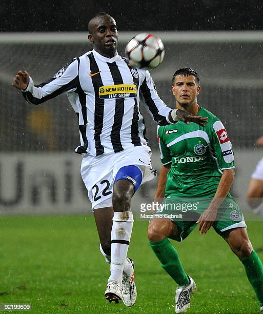 Mohamed Lamine Sissoko of Juventus FC in action during the UEFA Champions League Group A match between Juventus FC and Maccabi Haifa FC at Stadio...
