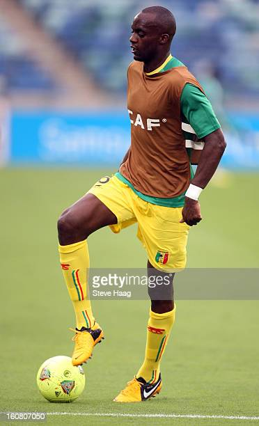 Mohamed Lamine Sissoko of Mali warmsup during the 2013 African Cup of Nations SemiFinal match between Mali and Nigeria at Moses Mahbida Stadium on...