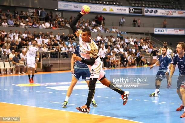 Mohamed Mamdouh of Aix during Lidl Star Ligue match between Fenix Toulouse and Pays D'aix Universite Club on September 13 2017 in Toulouse France