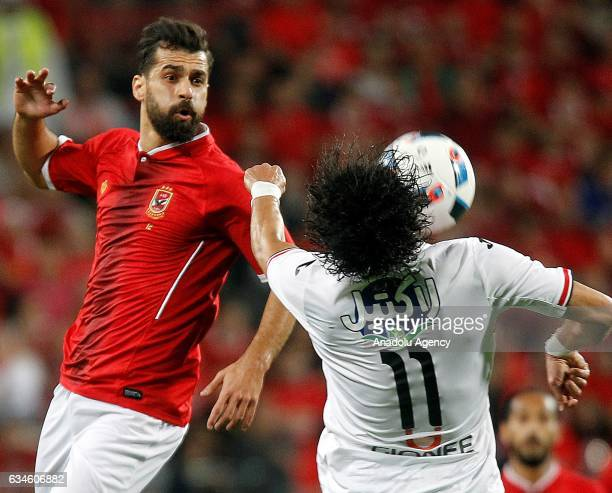 Mohamed Nasef of Zamalek in action during the Egypt Super Cup final match between Al Ahly and Zamalek at the Mohammed Bin Zayed Stadium in Abu Dhabi...