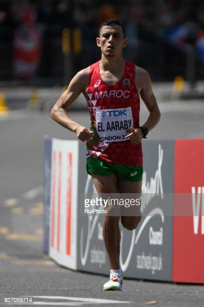 Mohamed RedaEL AARABY Marocco during marathon in London on August 6 2017 at the 2017 IAAF World Championships athletics