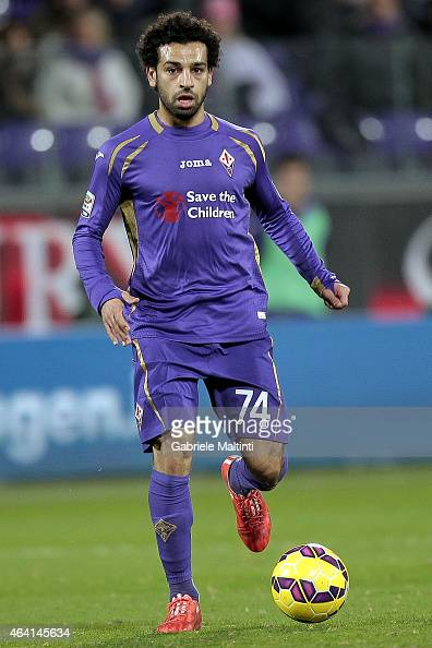 Mohamed Salah of ACF Fiorentina in action during the Serie A match between ACF Fiorentina and Torino FC at Stadio Artemio Franchi on February 22 2015...
