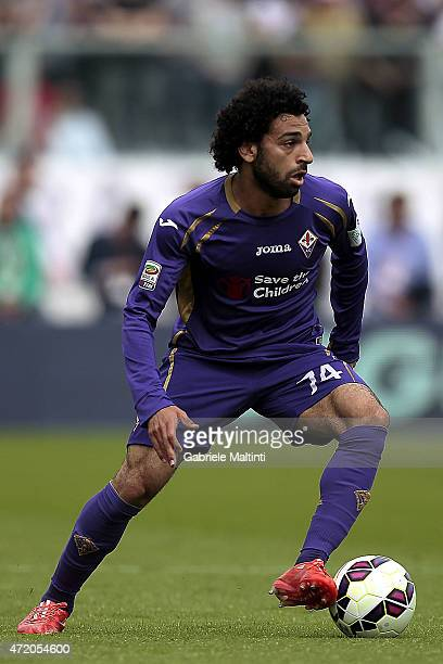 Mohamed Salah of ACF Fiorentina in action during the Serie A match between ACF Fiorentina and AC Cesena at Stadio Artemio Franchi on May 3 2015 in...