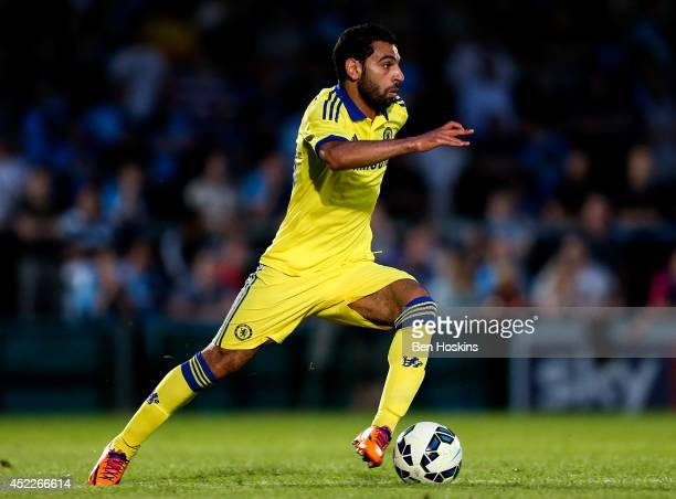 Mohamed Salah of Chelsea in action duing the pre season friendly match between Wycombe Wanderers and Chelsea at Adams Park on July 16 2014 in High...