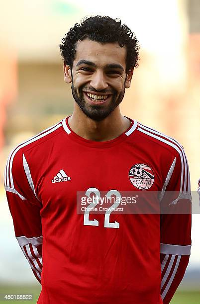 Mohamed Salah of Egypt during the International Friendly match between Jamacia and Egypt at The Matchroom Stadium on June 04 2014 in London England