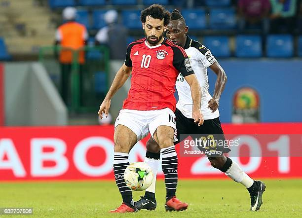 Mohamed Salah of Egypt in action during the African Cup of Nations 2017 Group D football match between Ghana and Egypt in PortGentil Gabon on January...