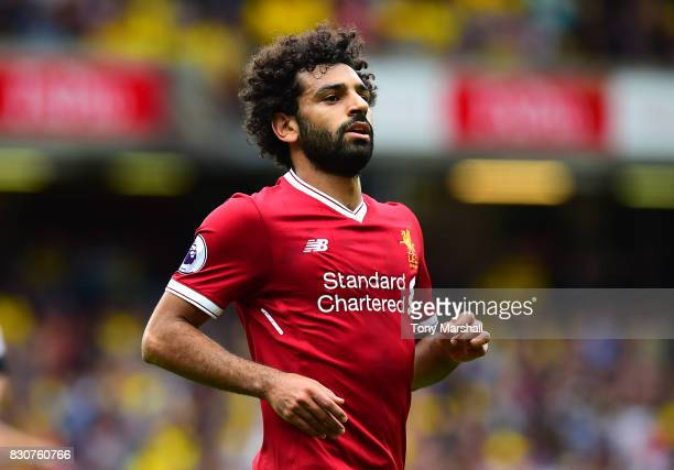 Mohamed Salah of Liverpool during the Premier League match between Watford and Liverpool at Vicarage Road on August 12 2017 in Watford England
