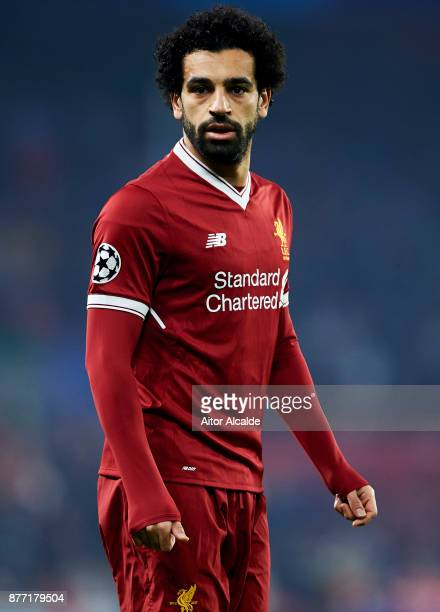Mohamed Salah of Liverpool FC reacts during the UEFA Champions League group E match between Sevilla FC and Liverpool FC at Estadio Ramon Sanchez...