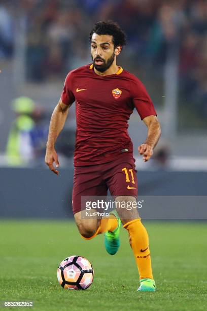 Mohamed Salah of Roma at Olimpico Stadium in Rome Italy on May 14 2017
