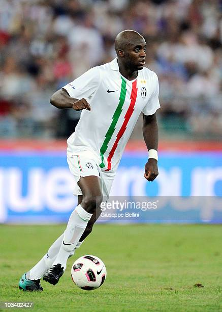Mohamed Sissoko of Juventus during the TIM preseason tournament at Stadio San Nicola on August 13 2010 in Bari Italy