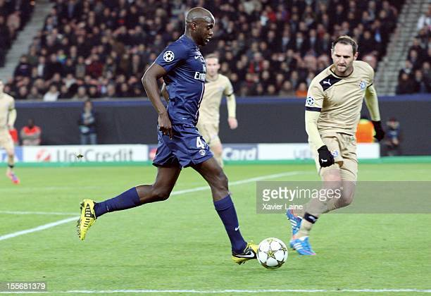 Mohamed Sissoko of Paris SaintGermain during the UEFA Champions League between Paris Saint Germain and GNK Dinamo Zagreb at Parc Des Princes on...