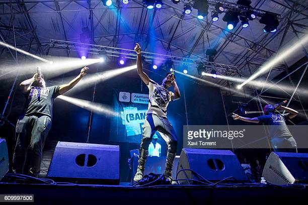 Mohamed Sylla aka MHD performs in concert during day 2 of BAM Festival on September 23 2016 in Barcelona Spain