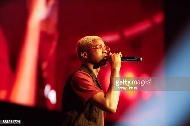 Mohamed Sylla MHD French Singer during the boxing event La Conquete at Zenith de Paris on October 14 2017 in Paris France