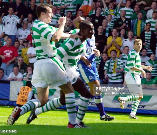 Mohamed Sylla of Celtic scores his team's sixth goal against QPR during the preseason friendly at QPR's Loftus Road ground Celtic won 73 THIS PICTURE...