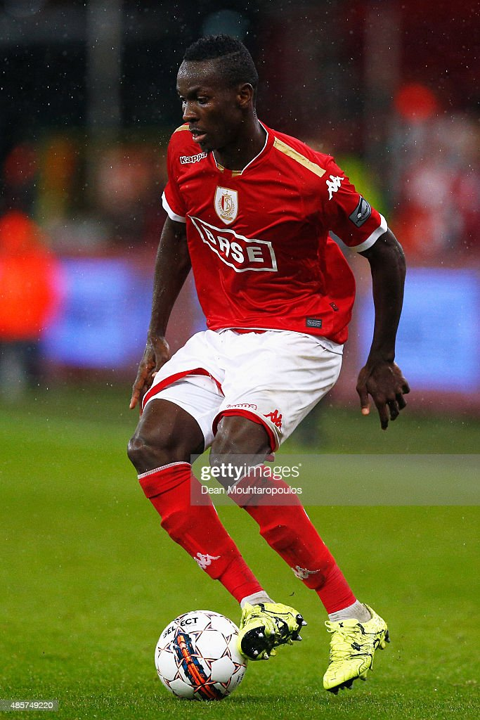 Mohamed Yattara of Standard Liege in action during the UEFA Europa League play off round second leg match between Standard Liege and Molde FK held at...