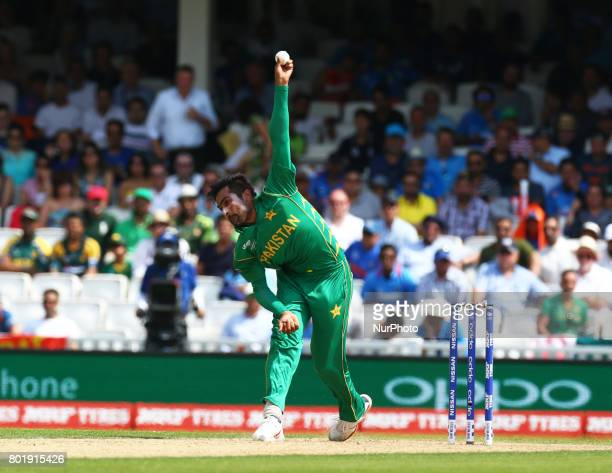 Mohammad Amir of Pakistan during the ICC Champions Trophy Final match between India and Pakistan at The Oval in London on June 18 2017
