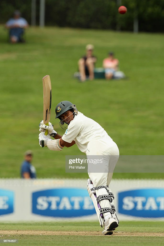 Mohammad Ashraful of Bangladesh bats during day three of the First Test match between New Zealand and Bangladesh at Seddon Park on February 17 2010...