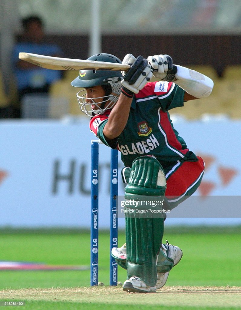 <a gi-track='captionPersonalityLinkClicked' href=/galleries/search?phrase=Mohammad+Ashraful&family=editorial&specificpeople=224689 ng-click='$event.stopPropagation()'>Mohammad Ashraful</a> of Bangladesh batting during the ICC Champions Trophy match between Bangladesh and South Africa, Edgbaston, Birmingham, 12th September 2004. South Africa won the match by 9 wickets.